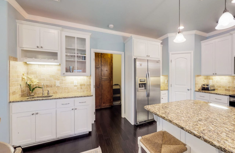 Rental kitchen at Still Waters Vacation Home.