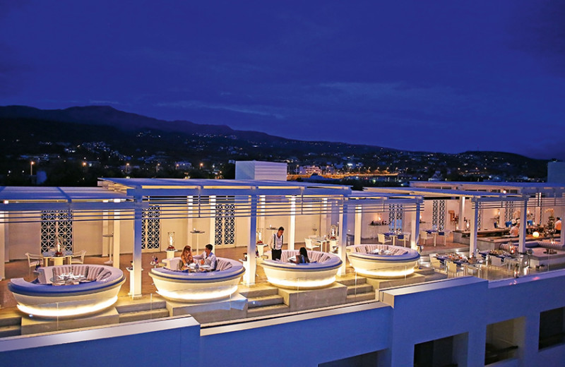 Dining at Grecotel Creta Palace.