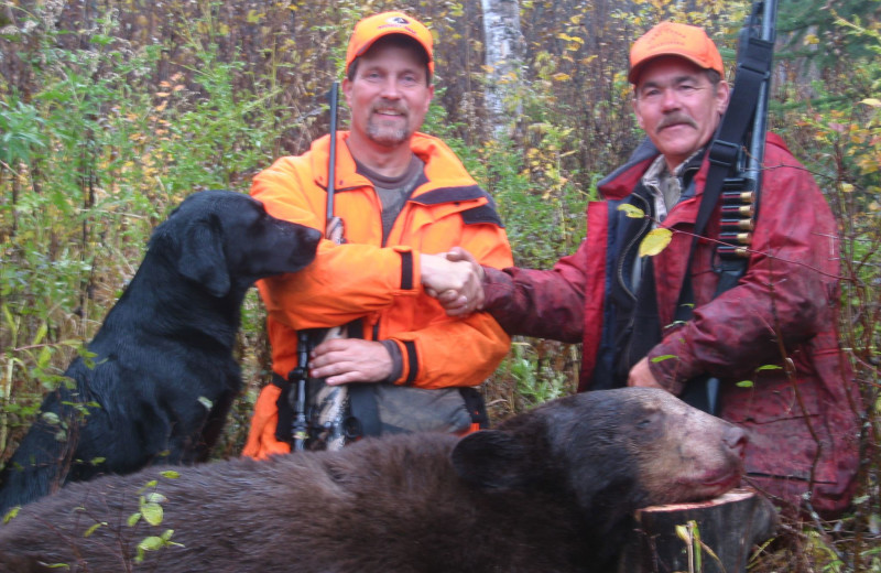 Bear hunting at Dahl Creek Outfitters.