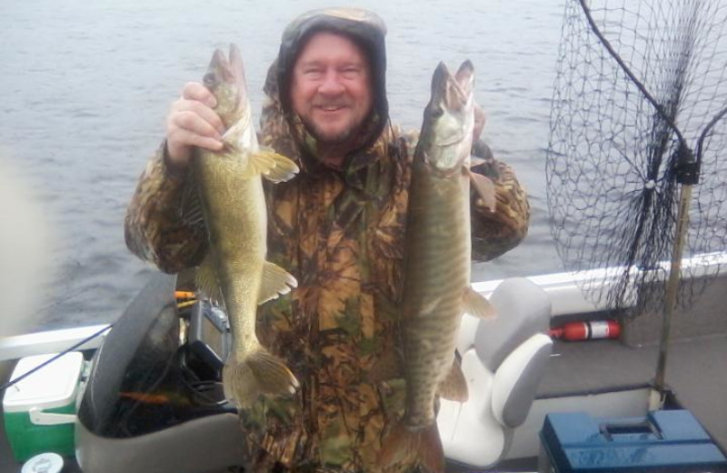 Fishing at Evergreen Lodge. Walleye and Musky