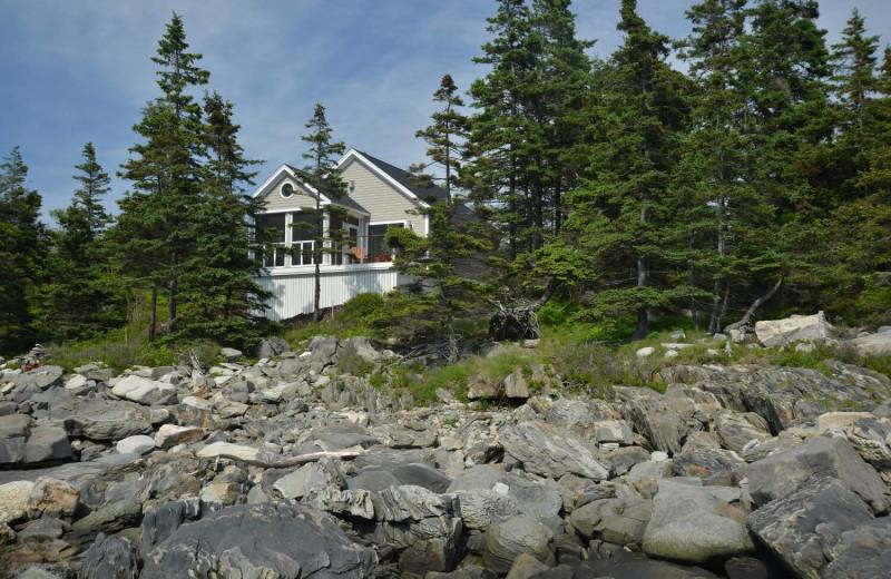 Cabin exterior at Newagen Seaside Inn.