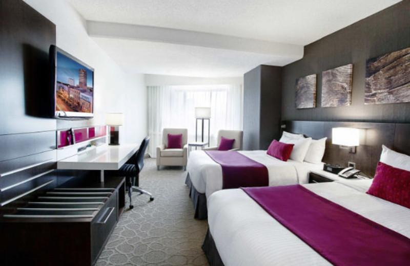 Guest room at Delta Quebec.