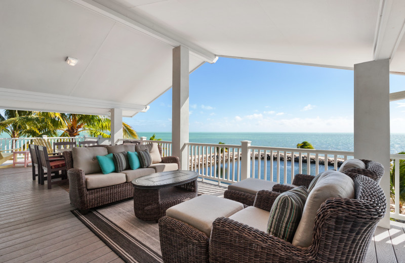 Rental patio at Florida Keys Vacations Inc.