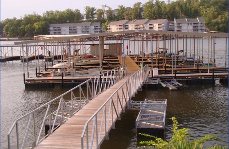 The dock at Robin's Resort.