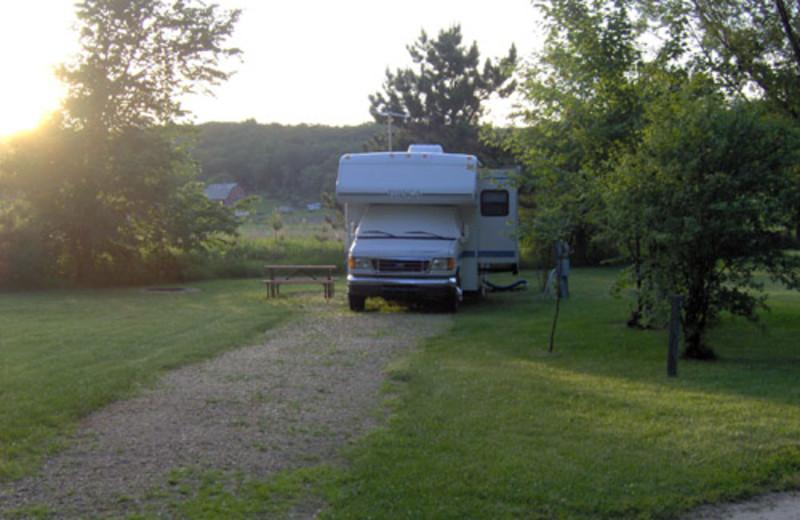 Camping Spot at Baraboo Hills Campground