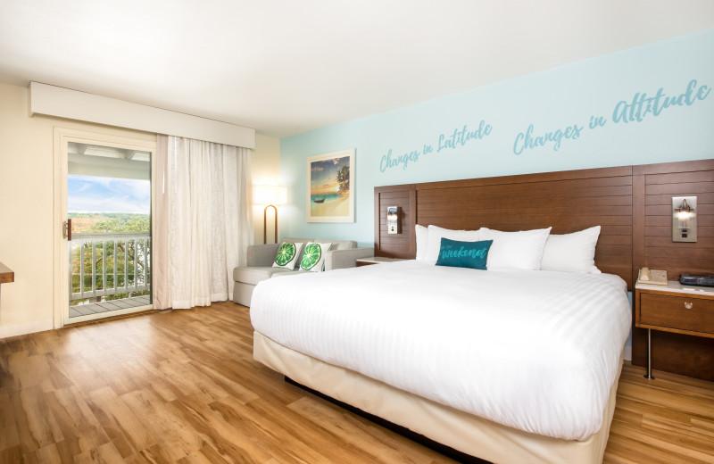 Guest room at Margaritaville Lake Resort Lake of the Ozarks.