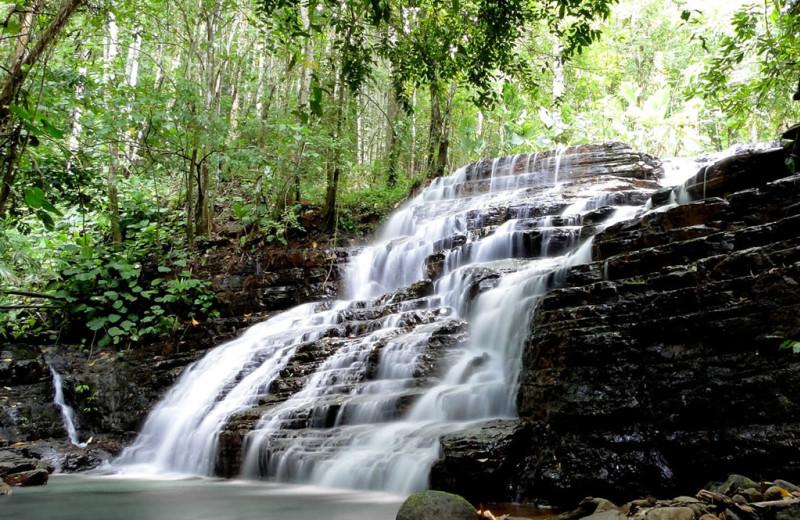 Waterfall at Cascadas Farallas Waterfall Villas.
