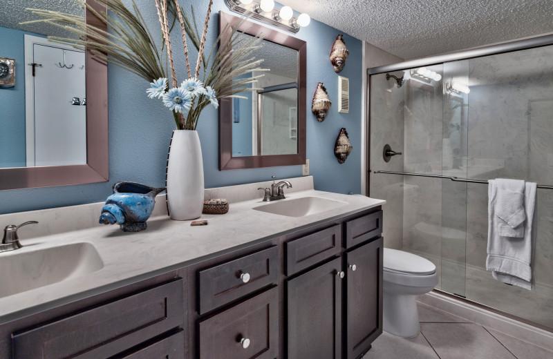 Guest bathroom at The Islander in Destin.