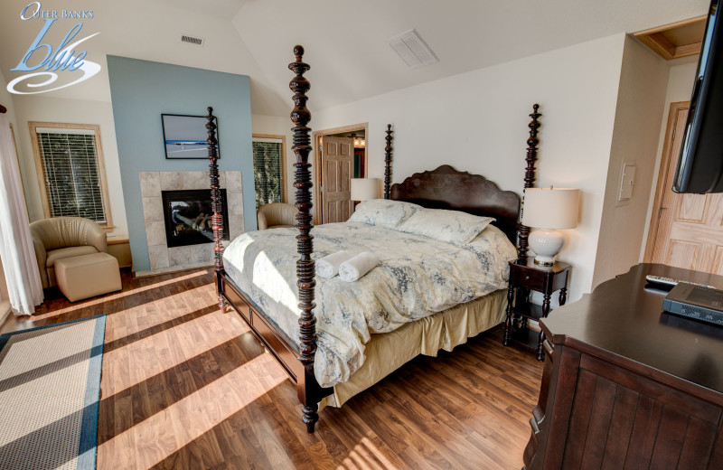 Rental bedroom at Outer Banks Blue.
