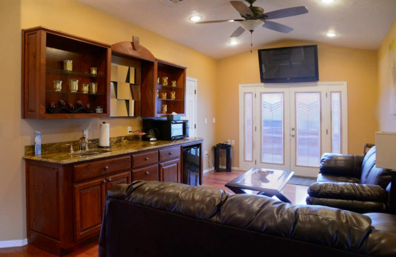 Guest living area at Dream Catcher Point Resort.