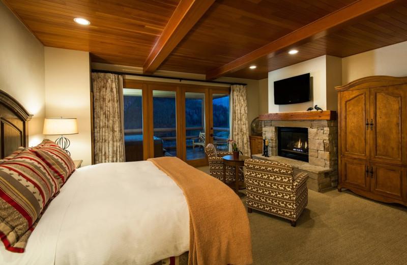 Guest room at Stein Eriksen Lodge.