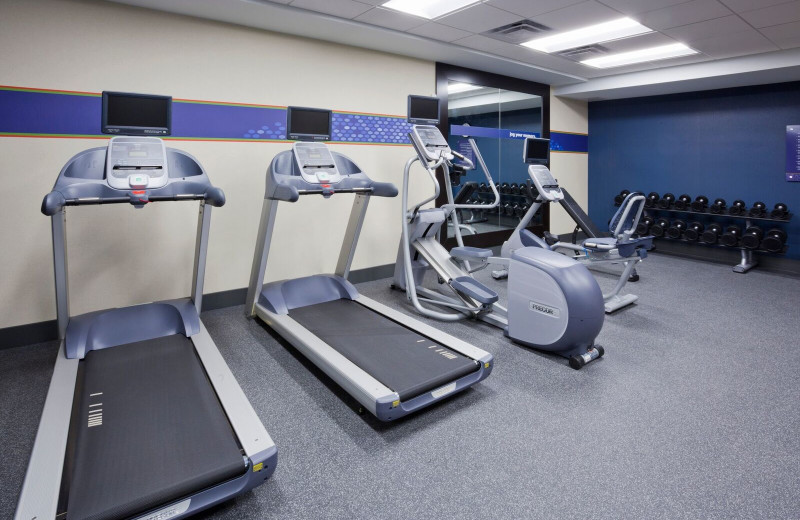 Fitness room at Spicer Green Lake Resort.