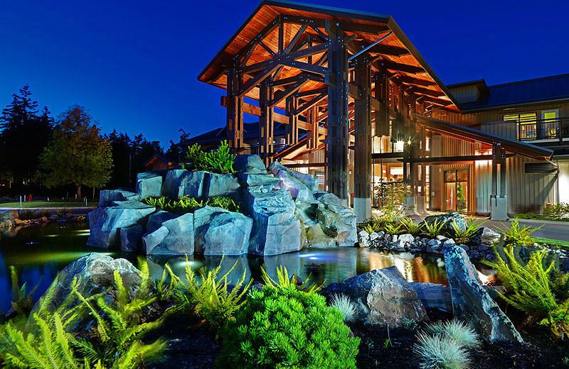 Main lodge exterior at Sunrise Ridge Resort.