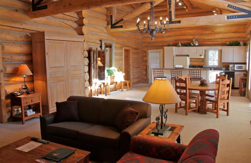 Guest room at Rock Creek Resort.
