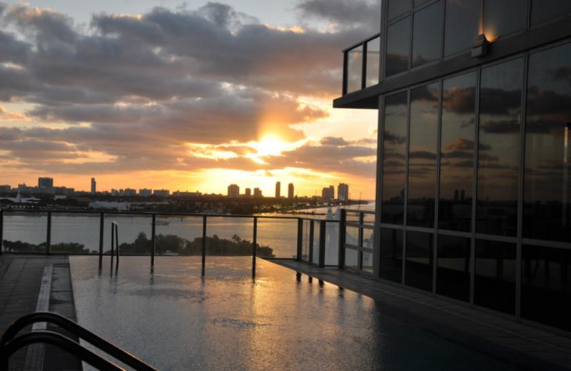 Sunrise at Casa Moderna Miami.