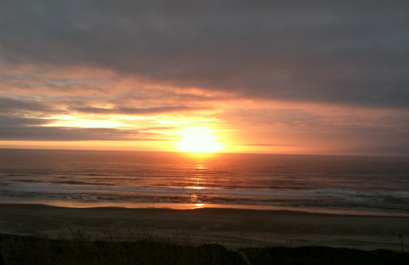 Sunset at Adobe Resort.