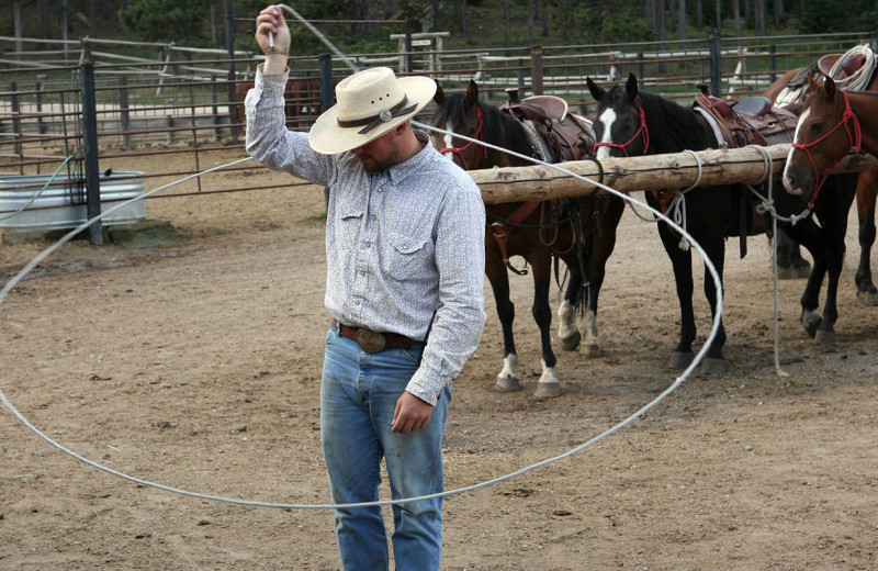 Rope tricks at Paradise Guest Ranch.
