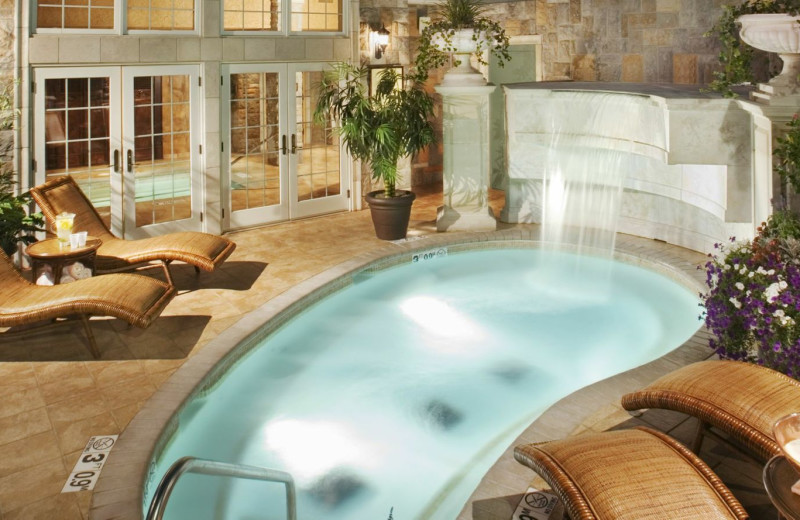 Indoor pool at Chateau on the Lake.