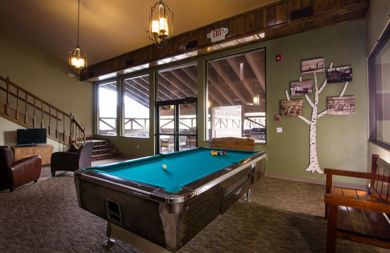 Recreation room at Stoneridge Resort.