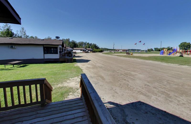 Cabins at Buffalo Point Resort.
