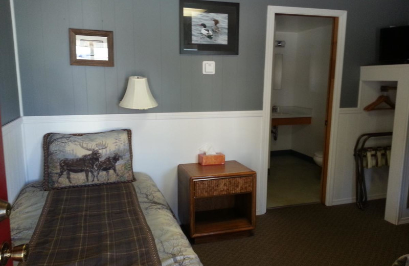 Guest room at Trail Lake Lodge.