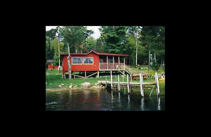 Cabin exterior at Voyageur Cove Resort.