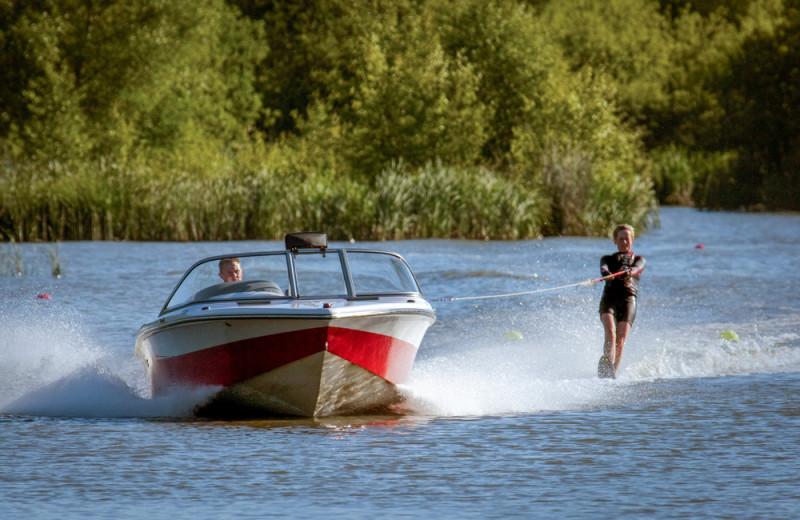 Boating at Nitschke's Northern Resort.