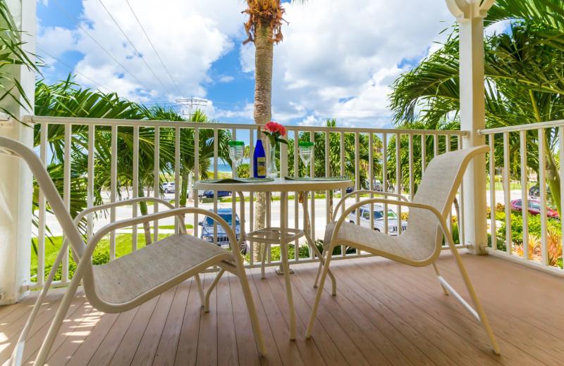 Guest balcony at Inn At The Beach Resort.