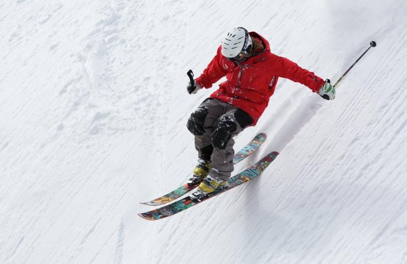 Skiing near Cascade Village Condominiums.