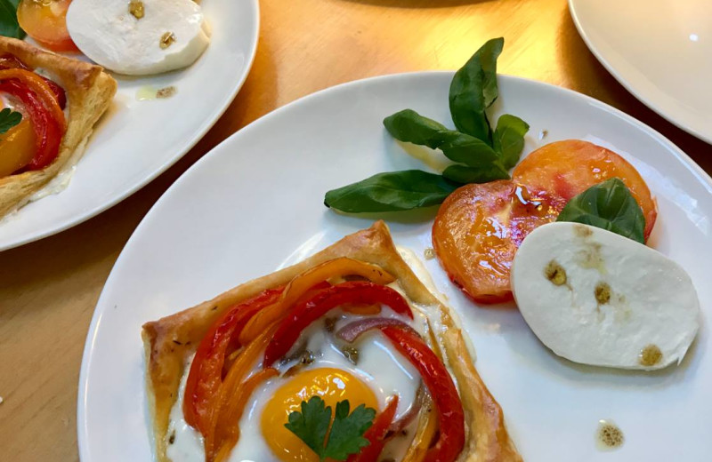 Breakfast at Morning Glory Inn.