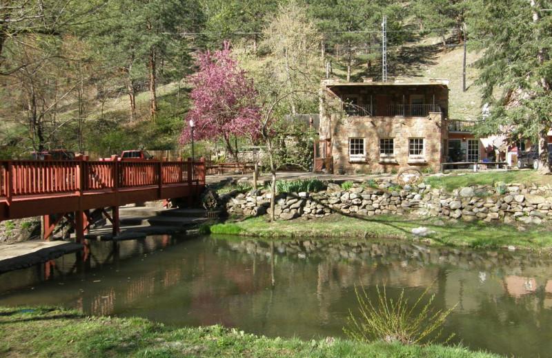 Beautiful view at Boulder Mountain Lodge.