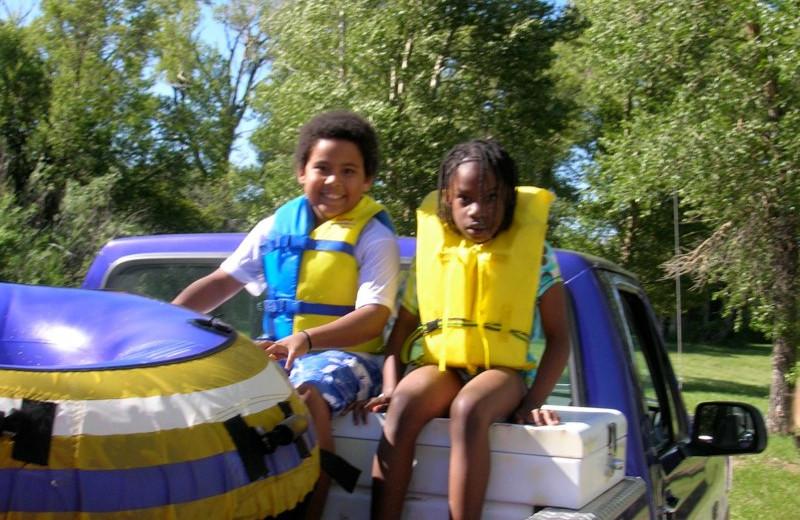 Water activities at Vee Bar Guest Ranch.