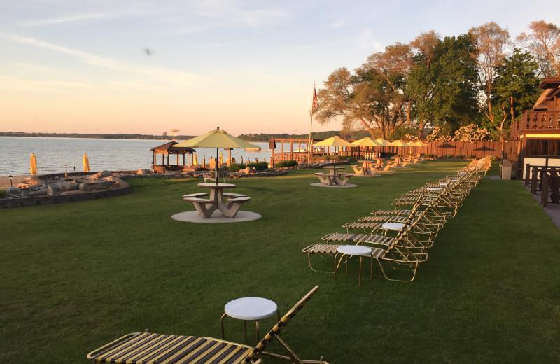Patio at The Beach Haus Resort.