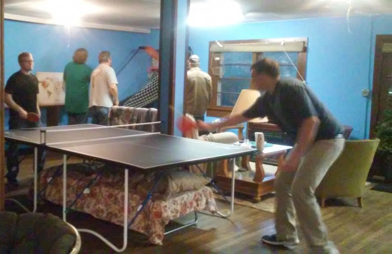 Ping pong table at The Shady House Lodge and Retreat Center.