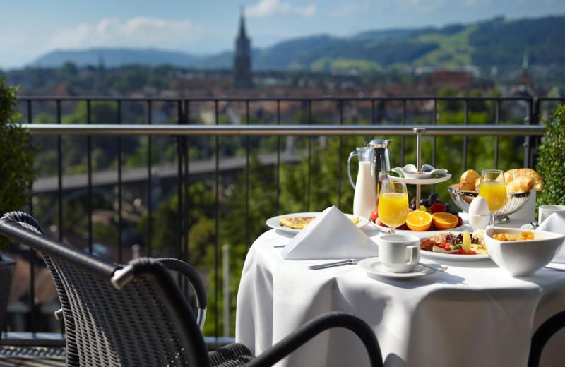 Balcony at Hotel Allegro Bern.