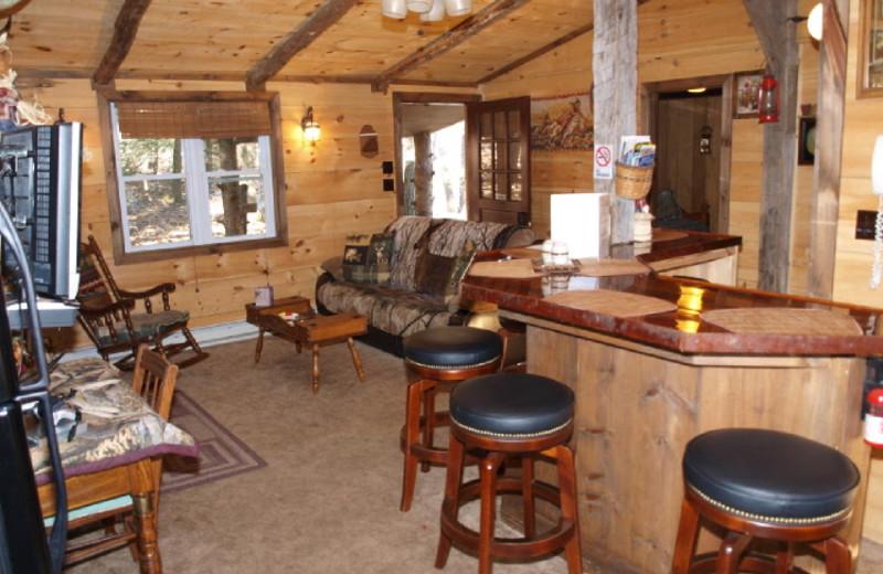 Cabin Interior at Cabins-4-Rent