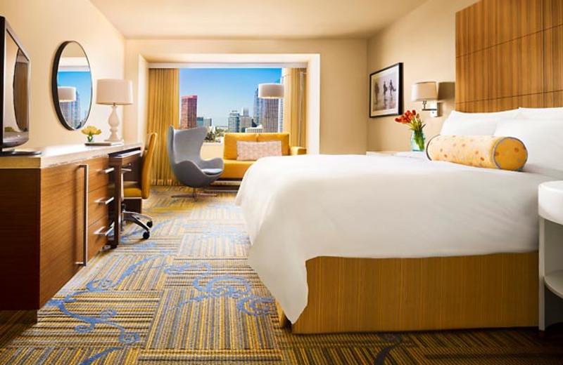 Guest room at JW Marriott LA Live.