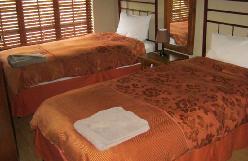 Guest room at Mount Amanzi Lodge.