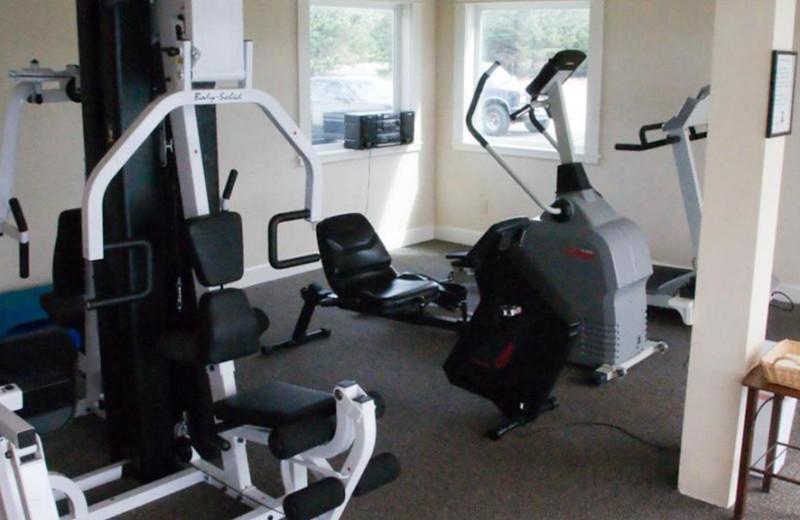Fitness room at Lighthouse Oceanfront Resort.