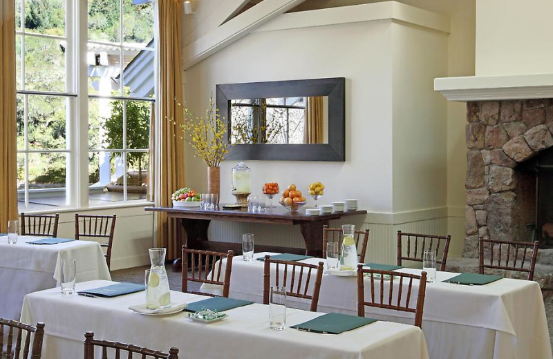 Dining area at Meadowood Napa Valley.