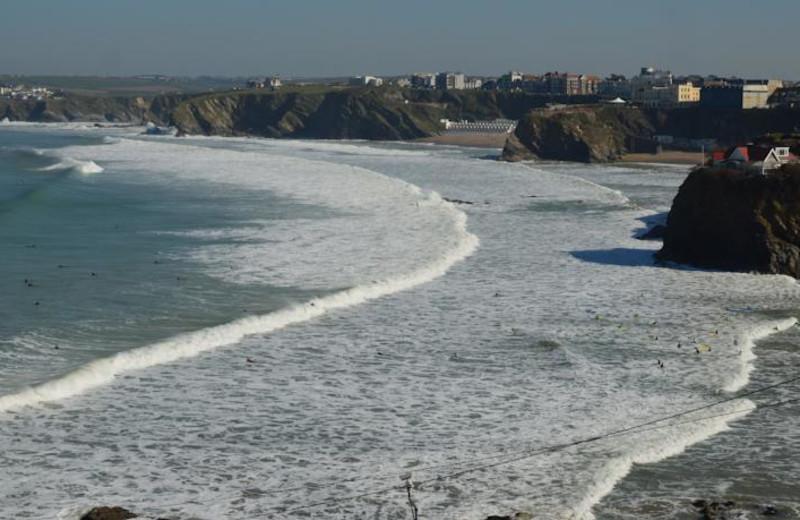 Surfing near Cliffside Hotel.