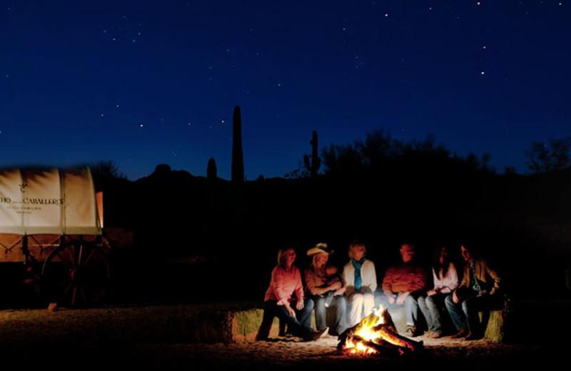Campfire at Rancho De Los Caballeros.