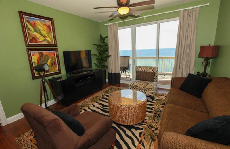 Guest living room at Calypso Resort & Spa.
