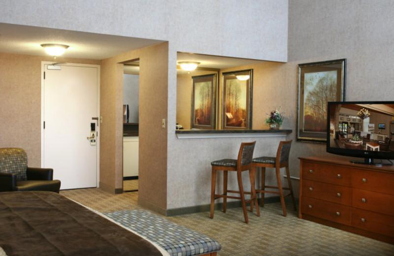 Guest room at Arrowwood Resort.
