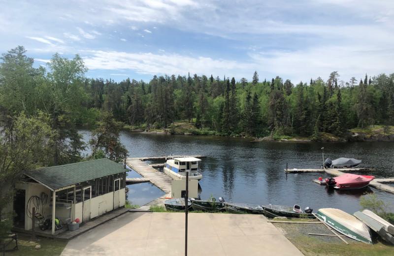 Lake view at Dogtooth Lake Resort.