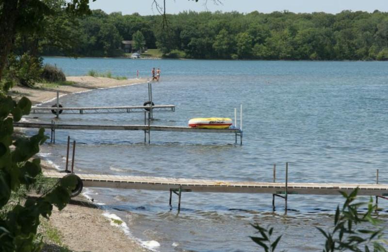 Docks at Scenic Point Resort.