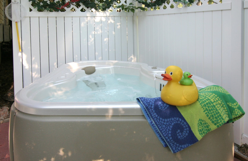 Hot tub at The Inn at Harbour Ridge.