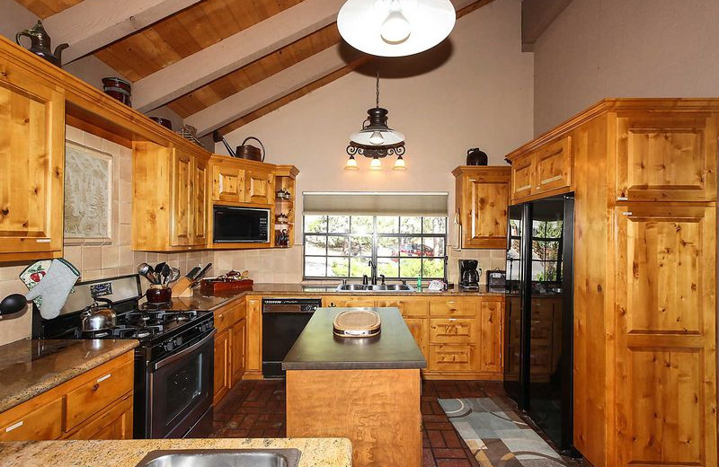 Rental kitchen at Big Bear Vacations.