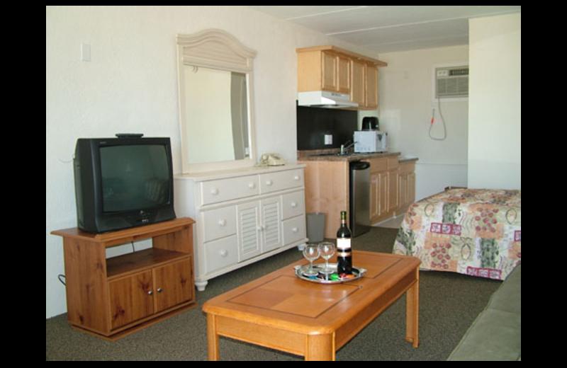Guest room at Lollipop Motel.
