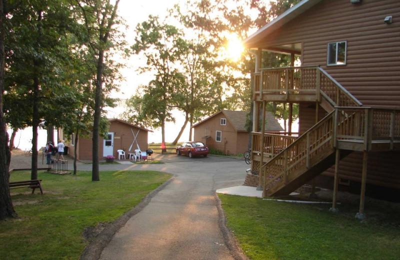 Cabin exterior at Train Bell Resort.